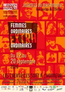 Affiche Femmes ordinaires extraordinaires 2020 par la compagnie Pièces Montées